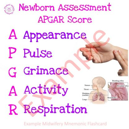 Apgar Card Example Flashcard