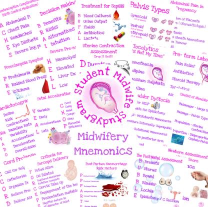 Midwifery Mnemonics Flashcards