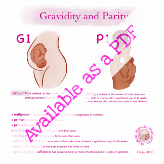 Gravidity and Parity Infographic