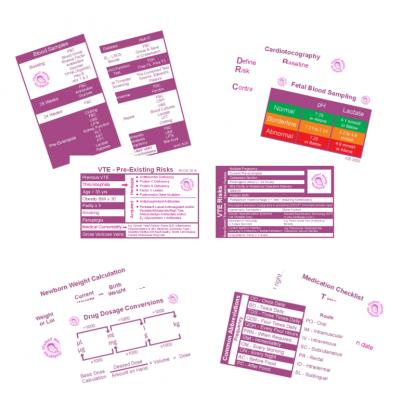 Midwifery Pocket Reference Cards 2