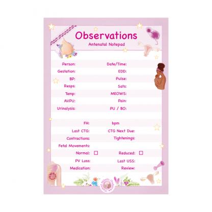 Antenatal Observations Notepad