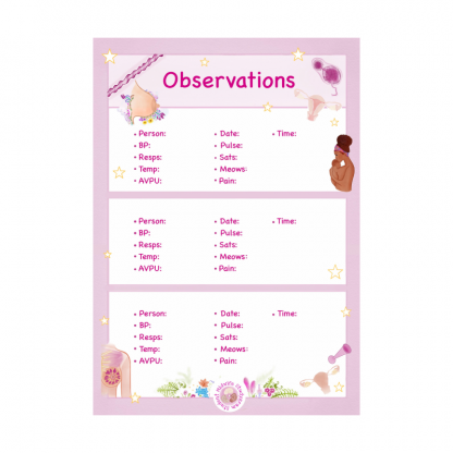 Basic Observations Notepad