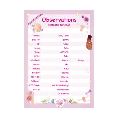Postnatal Observations Notepad
