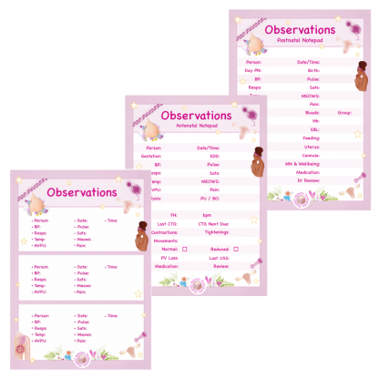 Triple-Pack Observations Notepads